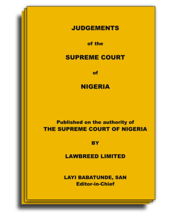 Bundle Judgements of the Supreme Court of Nigeria