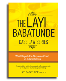 The Layi Babatunde Case Law Series