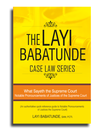 Case Law Series - Notable Pronouncements of Justices of the Supreme Court